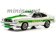 GREENLIGHT 12895 1978 78 FORD MUSTANG II COBRA II 1/18 WHITE WITH GREEN STRIPES