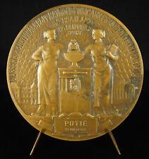 Médaille Allégories République Assemblé nationale à Auguste Potié Sénateur 1913