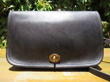 Vintage Coach City Black Leather Crossbody Shoulder Bag Handbag 0745 USA