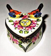 Limoges Box - Heart & Lovebirds & Eggs - I Love You - Roses - Valentine'S Day