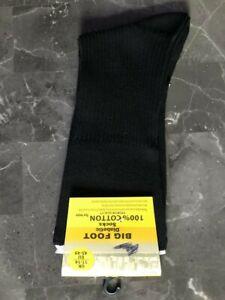 1 Pair  Mens big foot diabetic  Socks 100%cotton   Size 11-14