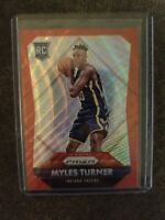 2015-16 Panini Prizm Red #340 Myles Turner Rookie Card 314/350
