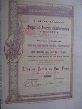 ACTION BELGIQUE RUSSIE DONETZ  FORGES D EKATERINOSLAW  1895