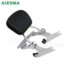 Chrome Passenger Backrest Sissy Bar & Luggage Rack For Harey 2000-06 Fat Boy US