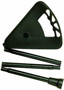 Amazing Health Flipstick folding adjustable shooting stick - 88-94cm LONG Black.