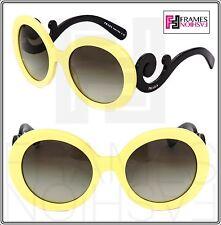 PRADA Minimal Baroque Round Oversized Swirl PR27NS Pale Yellow Black Women 27N