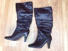 BARRATTS Dark Brown Knee High KATO Cavalier Boots  - Size 7 - EXC COND