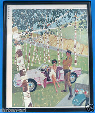 Original 1961 Alfa Romeo Giulietta Spider Playboy magazine advertise Framed Ad