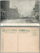 CHELSEY MA 1908 FIRE ANTIQUE POSTCARD