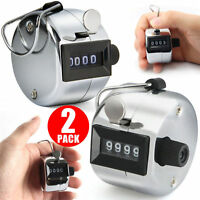 Golf Stroke Counter 4 Digit Manual Handheld Tally Mechanical Clicker 2 Pcs US
