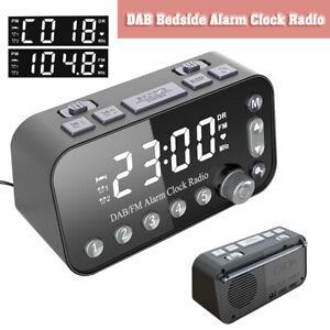 Funk DAB und Radiowecker Tischuhr FM UKW Uhrenradio Snooze Dual Alarm USB LED DE