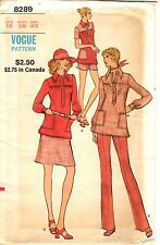 Vintage 1970s Vogue Sewing Pattern Womens TOP PANTS SKIRT SHORTS 8289 16 UNCUT