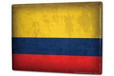 Cartel Letrero de Chapa XXL Viaje Por El Mundo  bandera de Colombia