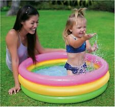 Baby Pool Colorful Soft Inflatable Floor 34in x 10in Repair Patch Summer Splash