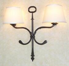 APPLIQUE LANTERNA LOIRA 2 LUCI IN FERRO BATTUTO CRUCCOLINI LAMPADE LAMPIONE