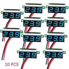 10x Blue DC 3.5-30V 2 Wire LED Display Digital Voltage Voltmeter Panel Motorcycl