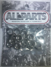 """Pack of 25 Chrome Nuts for 1/4"""" Input Jacks"""