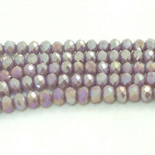 New Gray jade AB Faceted 100pcs Rondelle exquisite crystal 3x4mm Beads