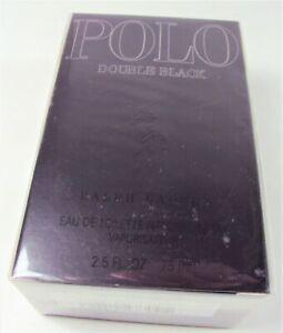 Ralph Lauren Polo Double Black Eau de Toilette Spray 2.5 oz EDT 75 ml NEW SEALED