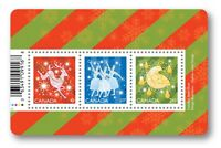 CHRISTMAS 2019 = Souvenir Sheet of 3 stamps Canada MNH VF