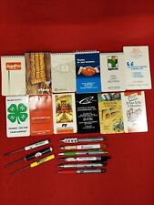 21pc Agricultural Farming Lot Pens Screwdrivers Notebooks Advertising