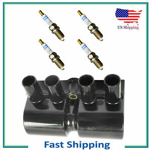 5PCS UF356 Ignition Coil & Bosch Platinum Spark Plug For Isuzu Rodeo Amigo 2.2L