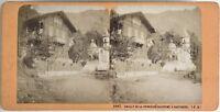 Cottage di la Principessa Galitzint Cauterets Foto Stereo Vintage Albumina c1868