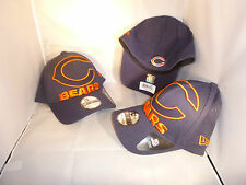 CHICAGO BEARS NAVY NFL JUMBOTRON LOGO NEW ERA SMALL MEDIUM FLEX FITTED HAT CAP