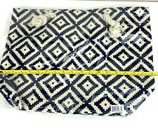 Summer and Rose Navy Diamond Beach Tote Bag Retails FabFitFun