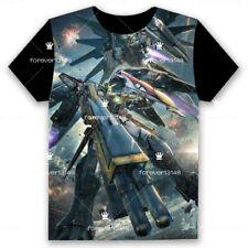 Anime GUNDAM T-shirt Short Sleeve Unisex Loose Black TEE Tops Cosplay S-3XL#7-07