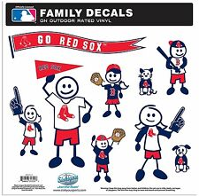 Boston Red Sox Large Family Decals 9 Pack (NEW) Auto Car Stickers Emblems MLB
