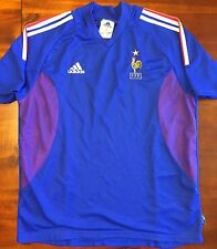 Adidas FRANCE 2002 World Cup L Home Soccer Jersey Football Shirt Maillot Blue