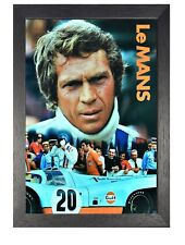 Steve McQueen Le Mans Poster Sports Race Car Picture American Actor Photo Star