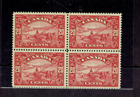 CANADA # 157 Harvesting Wheat Scroll Block of 4 VF mint H/NH