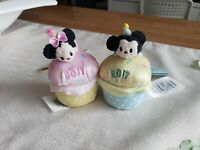 Mickey & Minnie Set Birthday Tsum Cupcakes Scented NWT 2017 Disney Store US