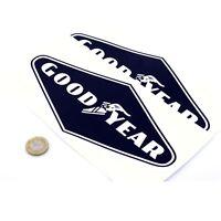 Goodyear Tyre Stickers Classic Car Racing Vinyl Decals 200mm x2 Black Diamond