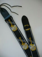 """Gibson Guitar/Bass 2"""" Strap Monogrammed/Embroidered, Factory Oops! B Stock, New"""