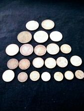 Lot of Mixed Silver World Foreign Coins 3.9658 Total Troy Ounces ASW