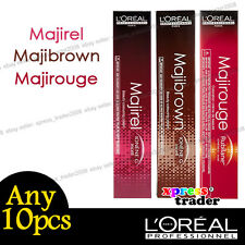 Any 10pcs L'Oreal Majirel Majibrown Majirouge Permanent Colour Hair Dye 50ml
