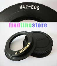 new EMF AF Confirm M42 lens to Canon EOS adapter 5DIII 7D 5D III 650D 100D + CAP