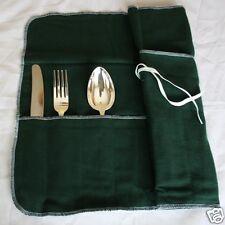 Bestecktasche, Besteckrolle Wickeltasche für 12 große Teile Besteck Anlaufschutz