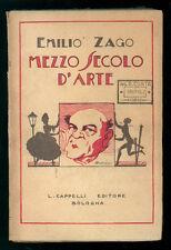 ZAGO EMILIO MEZZO SECOLO D'ARTE CAPPELLI 1927 TEATRO I° EDIZ.