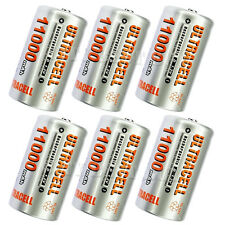 6 x D 11000mAh 1.2V NiMH Rechargeable Battery Ultracell