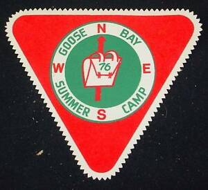 Vintage Patch GOOSE BAY SUMMER CAMP 1976 Directions N W E S