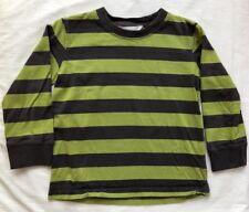Garnet Hill Long Sleeve Shirt Boys Size TL (3) EUC Gray & Green Stripe