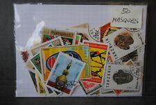 Masques, 50 timbres thématiques, tous différents