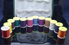 12x Carrete de Hilo, Thread en Bolsa de Plástico Protectora,  Montaje de Moscas