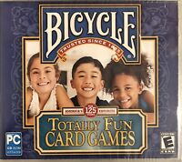 Bicycle Totally Fun Card Games Pc New Win10 8 7 XP Go Fish Old Maid Crazy Eights