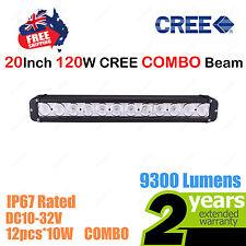 20inch 120W CREE LED Light Bar Work COMBO Beam SINGLE ROW Truck ATV SUV 4WD Car
