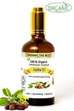 Jojoba Oil 100 Organic Cold Pressed Undiluted Certified Premium Quality 50ml